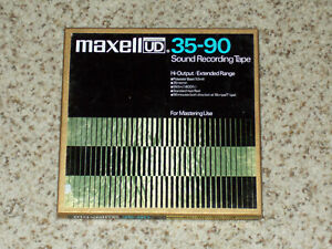 Maxell UD 35-90 Magnetic Sound Recording Tape 1800 ft 7 inch Reel APPEARS UNUSED
