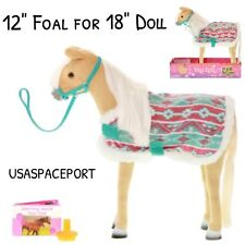 """12"""" Posable PALOMINO FOAL SET Horse Pony for My Life as 18"""" Doll +American Girl"""