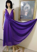 "OLGA ""RARE"" VTG AMETHYST PURPLE nightgown style 98280 10 3 size XL extra large"
