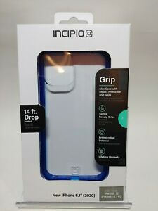 """Incipio GRIP 14ft. drop tested Slim Case(Blue/Clear) - iPhone 12/12 Pro 5G 6.1"""""""