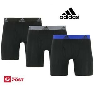 NEW adidas Mens Climalite Boxer Brief Sport Performance Underwear 3Pair S M L XL