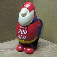 Budweiser Beer BUD MAN LIDDED STEIN, 1989 Ceramarte, ANHEUSER BUSCH, Mint