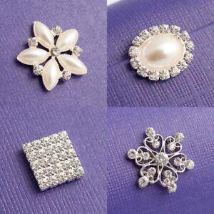 Diamante & Pearl Embellishments Heart Square Round Crystal Craft Rhinestone Gems