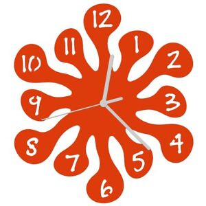 EnjoyYourTime Splash Childrens Wall Clock 25cm Orange (e9513org)