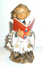 Fontanini Figurine 1983 w. Tag Choir Boy w. Music Book Sig. Simonelli & Logo