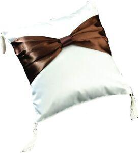brown sash wedding ring bearer pillow ringbearer