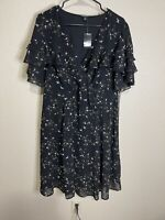 torrid black floral dress. New With Tags. Size 0