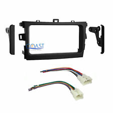 Car Radio Stereo Double DIN Dash Kit with Harness for 2009-2011 Toyota Corolla