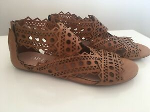 Top End Leather Sandals Panios Tan Size 38 RRP $179.95 #74
