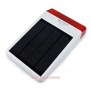 Solar Wasserdicht Funksirene Für Außenverwendung Mit LED Blitzlicht In Rot