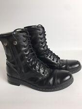 CoSTUME NATIONAL Homme Black leather  Soho  Boots  Men Size 7 U.K.9 U.S