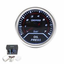 "Universal Oil Press Pressure Gauge Pointer Car Smoke Len LED BAR Meter 2"" 52mm"