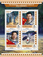 Solomon Islands 2016 MNH Shenzhou-11 Spacecraft Tiangong-2 4v M/S Space Stamps