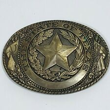 Tony Lama State Of Texas Solid Brass Belt Buckle State Series Collection Star