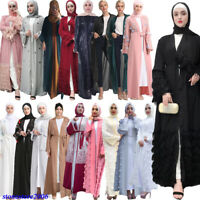 Ramadan Abaya Dubai Kimono Kaftan Jilbab Muslim Long Cardigan Dress Women Robes