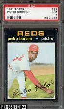 1971 Topps SETBREAK #613 Pedro Borbon Cincinnati Reds PSA 7 NM