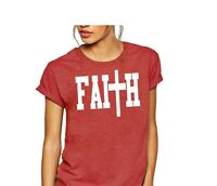Faith shirt US women's ladies shirt Christian Jesus Christianity top tee t-shirt