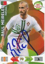 Raul Meireles  Portugal  Panini Card Road to WM 2014  signiert 400277