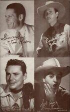Cowboy Actor Multi 4 in 1 Arcade/Exhibit Card TOM KEANE JOHN KING DANNY THOMAS
