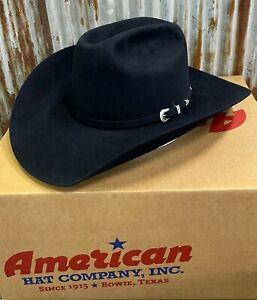 """American Hat Co. 7X Midnight Blue Self Buckle Felt 4 1/4"""" Cowboy Hat"""