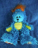 *1920b* Clumsy the blue monster  bear - Skansen Beanie Kids - plush - 22cm