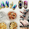 Nail Art Tips Buffer Buffing Sanding Files Block,Foil Flakes Leaf Wrap Manicure