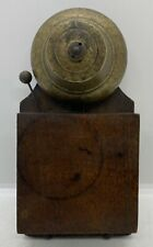 Old Vintage Victorian Home Early Antique Wooden Box Electric Brass Door Bell