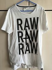 G-Star Raw Men's White T-Shirt - Medium - Used Good Condition