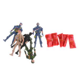 9cm Paratroopers Action Figures Army Men Soldier   Playset - 5pcs