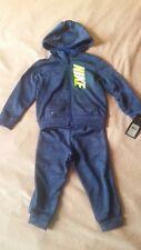 Nike Toddler Boy 2-Piece Set Tracksuit 24 Mon. Blue & Green,Jogger Pants,Hoodie