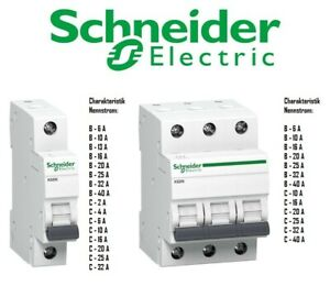 Schneider LS Leitungsschutzschalter Schalter  1-3 polig B / C Sicherungsautomat