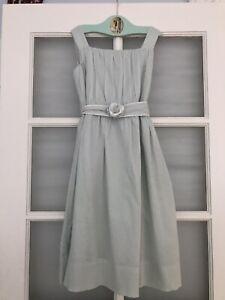 Strasburg Classic Summer Dress 10 Robbin Egg Blue Mint Green Cotton Rose Chic