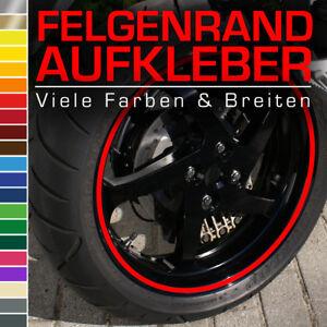 Felgenaufkleber 12mm für Auto Motorrad Wohnmobil Wohnwagen Türkis Orange Rot