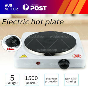 New 1500W Portable Single Electric Hot Plate Cooker Hotplate Stove Home Caravan