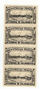 CHILE 1944 Valparaiso seal largest chilean stamp RARE full sheet MNH