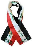 """Iraq Country Lightweight Flag Printed Knitted Style Scarf 8""""x60"""""""