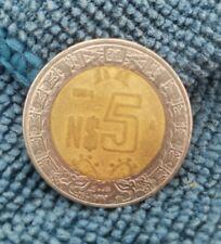 Mexico, $N5 Peso Coin,1994 Bi-Metallic **HARD TO FIND**