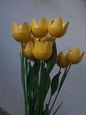 *** Fiori fiore TULIPANO in ferro smaltato 50 cm GIALLO iron yellow tulipan ***
