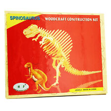 3D Wood Construction Puzzle Small -Dinosaurs - Spinosaurus