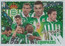 N°05 EQUIPAZOS TEAM SQUADRA # ESPANA REAL BETIS STICKER PANINI ESTE LIGA 2014
