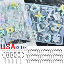 Letter Number for Epoxy Molds Alphabet Resin Silicone Molds DIY Making Keychain