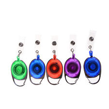 Recoil ID Badge Lanyard Retractable Reel Tag Key Card Holder Belt Clip`