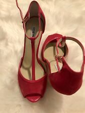 5267e2ee8db NEW Steve Madden Women Flush Pink Suede Peep Toe Ankle Strap Heels Size 9 M