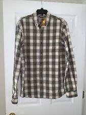 Men's NWT Carhartt Button Down Plaid LS Shirt Sz M Relaxed Fit