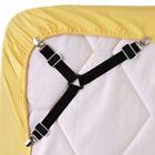 4pcs Triangle Bed Black Mattress Holder Fastener Grippers Clips Suspender Straps