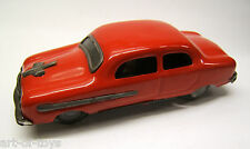 Tintoy Blechspielzeug, PKW Limousine, rot, DELHI Made in India, Friktion, 1960er
