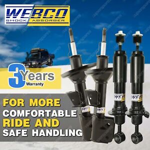 Front + Rear Webco Pro Shock Absorber for MITSUBISHI LANCER CE Sedan Coupe 96-02