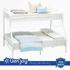 Twin over Full Metal Bunk Beds  Kids Teens Dorm Bedroom Loft Furniture  w/Ladder