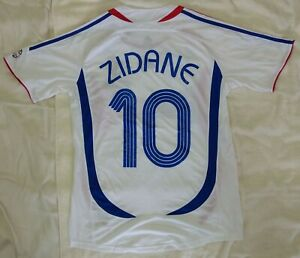 2006 France 10 ZIDANE retro classic soccer football t-shirt team away jersey tw