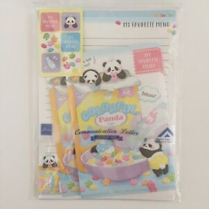 Letter Set Stationary Pandas With Colorful Cereal Japanese Kawaii Stationary